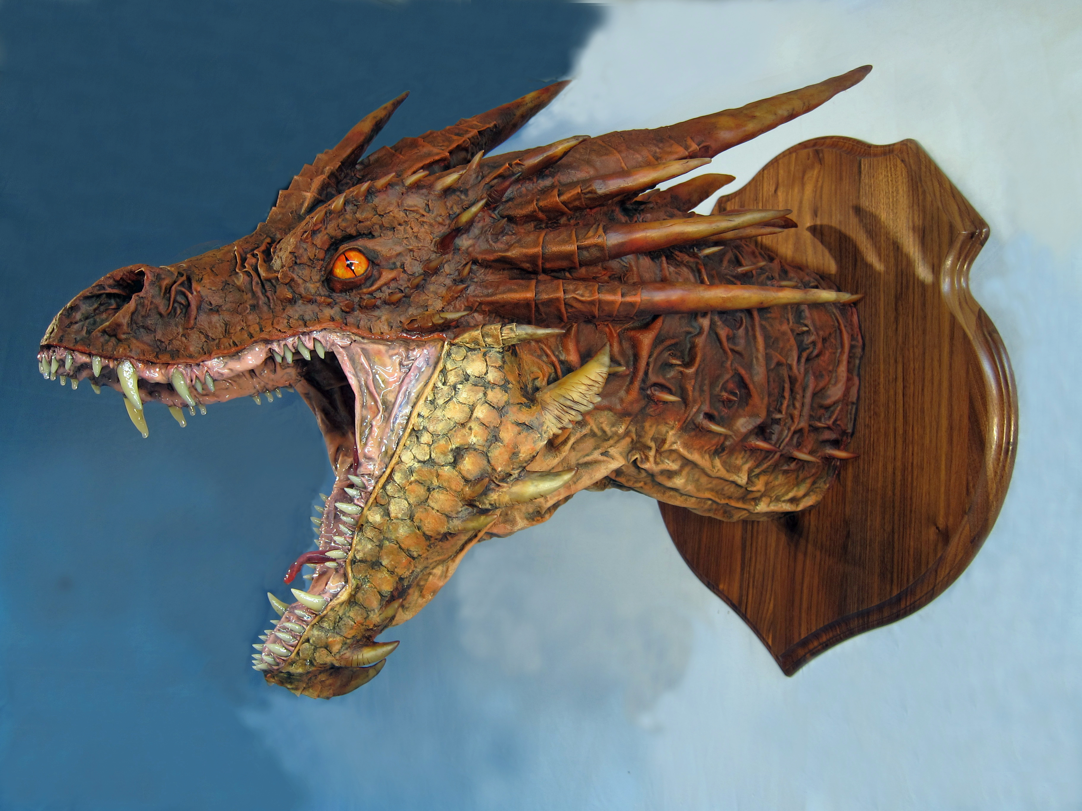 Paper mache smaug gourmet paper mache blog for How to make a sculpture out of paper mache