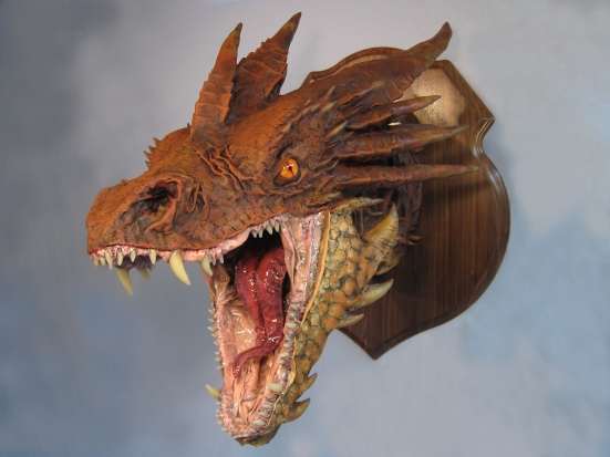 Paper Mache Smaug -front