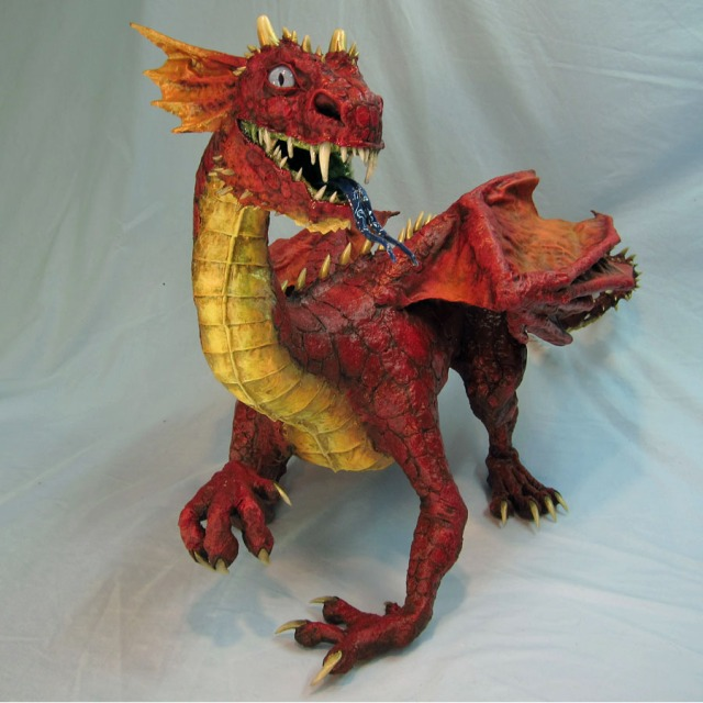 Paper Mache Baby Dragon
