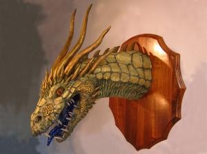 Gold Paper Mache Dragon2