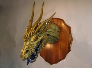 Gold Paper Mache Dragon