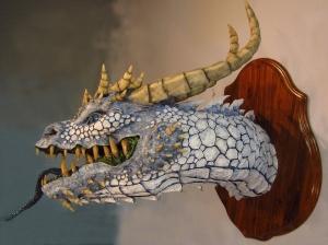 White Paper Mache Dragon 3