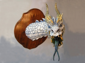 White Paper Mache Dragon 2
