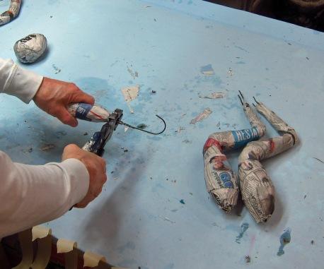 trim paper mache legs