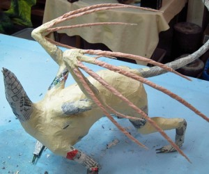 paper mache cat dragon 26