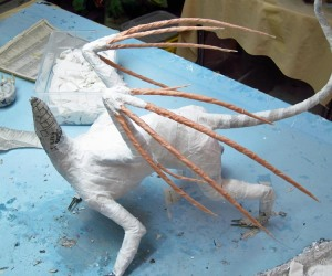 paper mache cat dragon 28