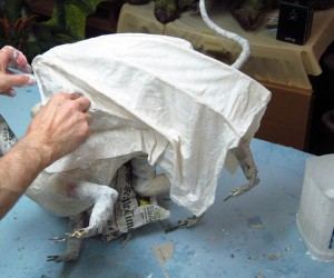 paper mache cat dragon 29