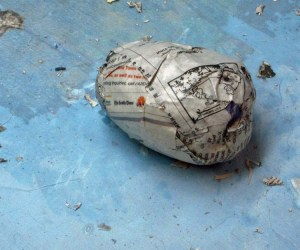 paper mache cat dragon -ball for jaw