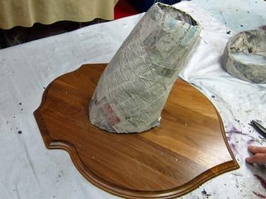 trim paper mache shell