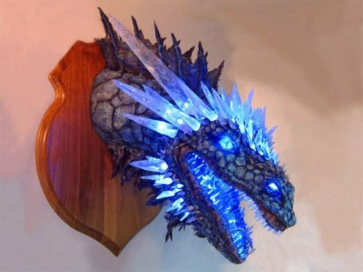 Paper Mache Ice dragon 6