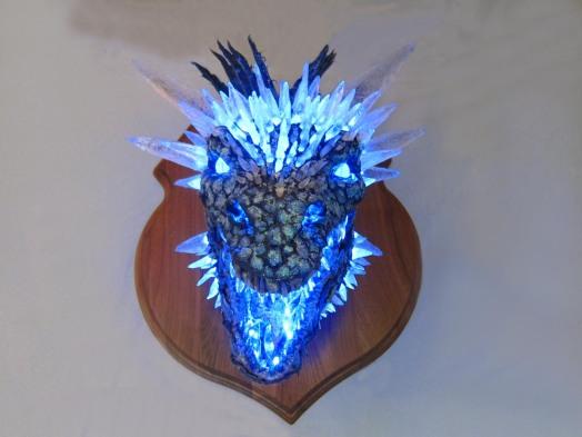 Paper Mache Ice dragon 5