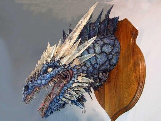 Paper Mache Ice dragon 1