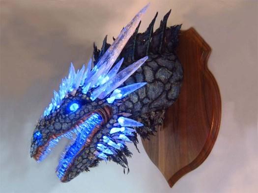 Paper Mache Ice dragon 4